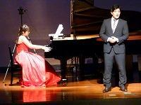音楽科教員と平田さんとのコラボレーション
